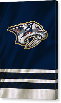 Nashville Predators Canvas Print by Joe Hamilton