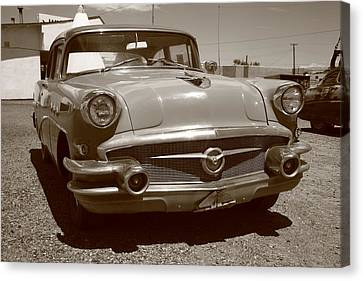 Route 66 Classic Car Canvas Print by Frank Romeo