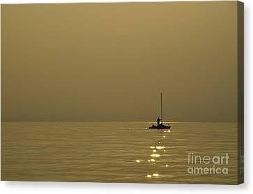 Sailing Boat Canvas Print by Mats Silvan