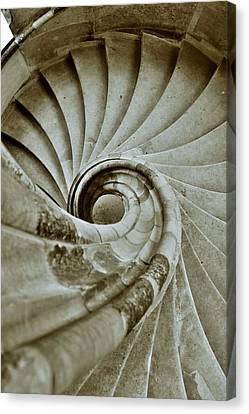 Sand Stone Spiral Staircase Canvas Print by Falko Follert