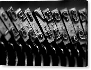 Typewriter Keys Canvas Print by Falko Follert