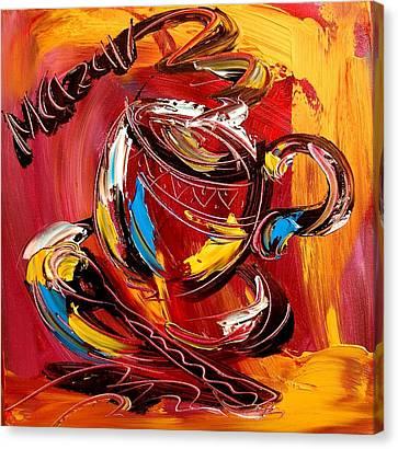 Coffee Canvas Print by Mark Kazav