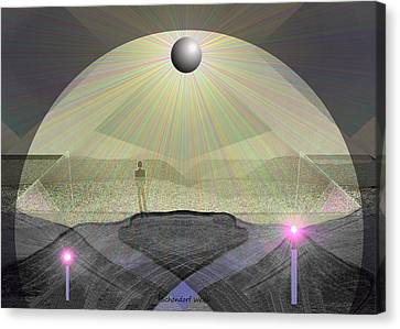 947 - Under The Cupola ... Canvas Print by Irmgard Schoendorf Welch