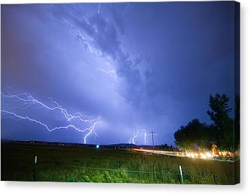 95th And Woodland Lightning Thunderstorm View Canvas Print by James BO  Insogna