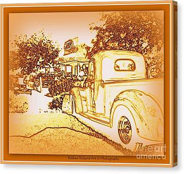 A And W Drive In Canvas Print by Bobbee Rickard