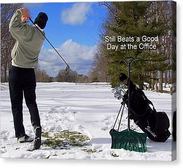 A Bad Day On The Golf Course Canvas Print by Frozen in Time Fine Art Photography