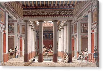 A Banquet In Ancient Greece Canvas Print by Nordmann