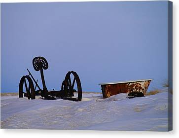 A Bath After Harvest Canvas Print by Jeff Swan