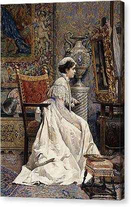 A Beautiful Connoisseur Canvas Print by Tomas Moragas y Torras