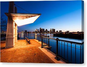 A Bench With A View Canvas Print by Lee Costa