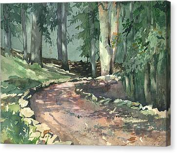 A Bend In The Road Canvas Print by Spencer Meagher