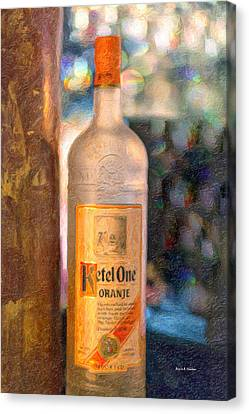 A Bottle Of Ketel One Canvas Print by Angela A Stanton