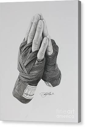 A Boxer's Prayer Canvas Print by Joshua Navarra