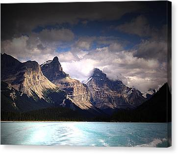 A Break In The Clouds Canvas Print by Janet Ashworth