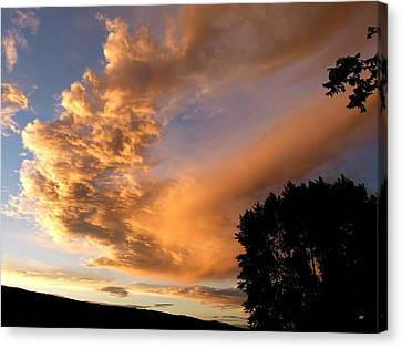 A Breathtaking Sunset Canvas Print by Will Borden