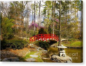 A Bridge To Spring Canvas Print by Benanne Stiens