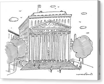 A Building In Washington Dc Is Shown Canvas Print by Michael Crawford