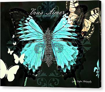 A Butterfly For Terra Canvas Print by Lynda Payton