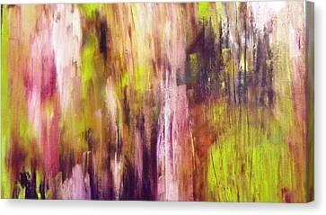 A Cascade Of Hues Canvas Print by Jagjeet Kaur