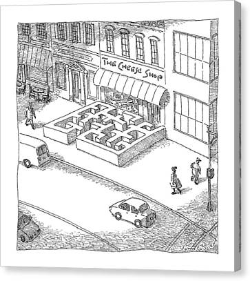 A Cheese Shop Has The Exterior Of A Mouse Maze Canvas Print by John O'Brien