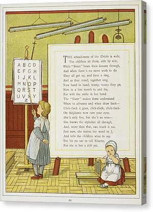 A Child Learning The Alphabet Canvas Print by British Library