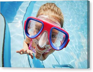 A Child With Goggles Canvas Print by Don Hammond