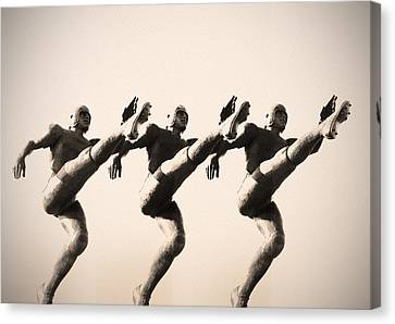A Chorus Line Canvas Print by Bill Cannon
