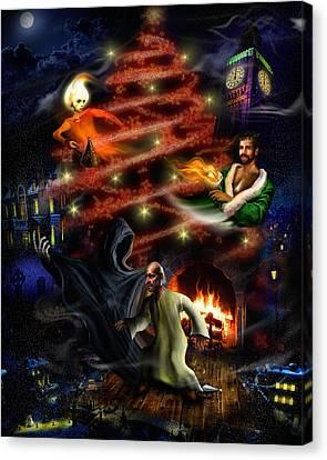 A Christmas Carol Canvas Print by Alessandro Della Pietra