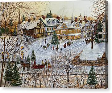 A Christmas Village Canvas Print by Doug Kreuger