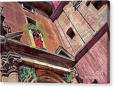 A Church In Murcia Canvas Print by Sarah Loft