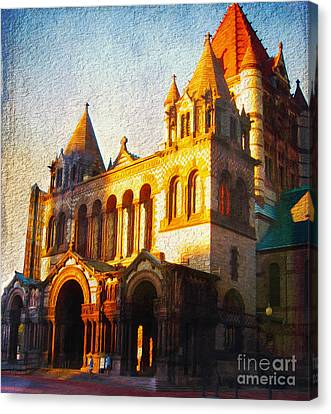 A Church Off The Square Canvas Print by Page One Tang