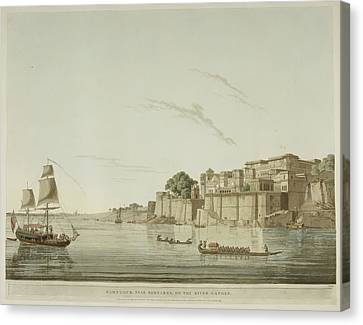A City On The River Ganges. Canvas Print by British Library
