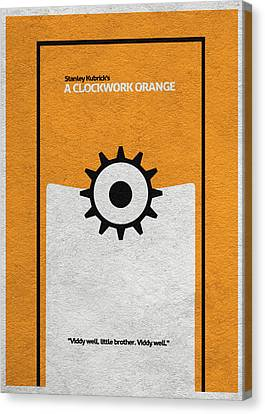 A Clockwork Orange Canvas Print by Ayse Deniz
