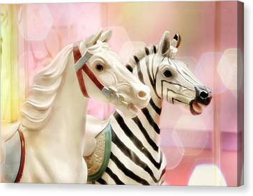 A Close Race Canvas Print by Amy Tyler