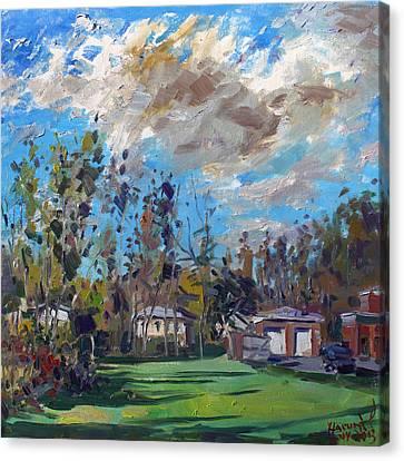A Cloudy Fall Day Canvas Print by Ylli Haruni
