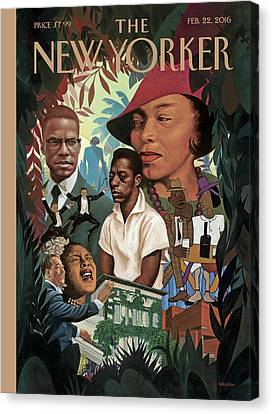 A Collage Of Famous African Americans Canvas Print by Kadir Nelson