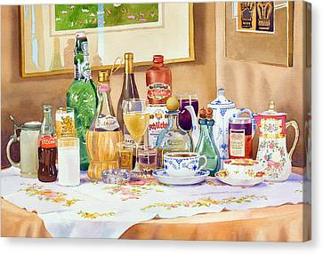 A Collection Of Drinks Canvas Print by Mary Helmreich