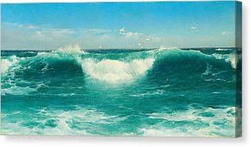 A Cornish Roller Canvas Print by David James