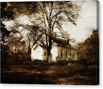 A Country Church Canvas Print by Cynthia Lassiter