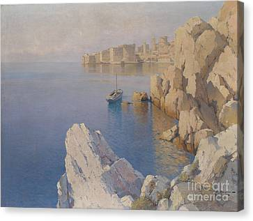 A Cove In Dubrovnik Canvas Print by Celestial Images