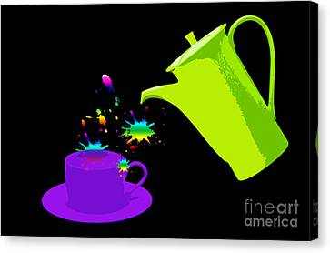 A Cup Of Rainbow Canvas Print by Michelle Orai