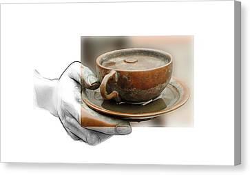 A Cup Of Tea Canvas Print by Steve K