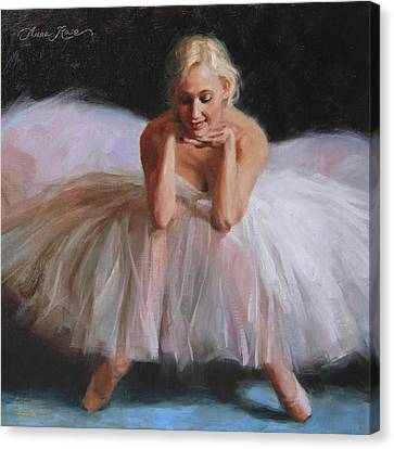 A Dancer's Ode To Marilyn Canvas Print by Anna Rose Bain