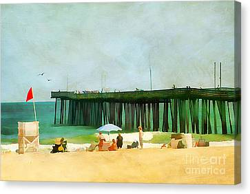 A Day At The Beach Canvas Print by Darren Fisher