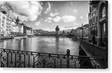 A Day In Lucerne Canvas Print by Mountain Dreams