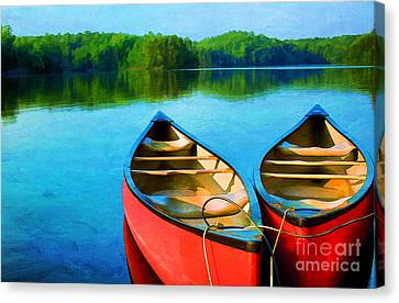 A Day On The Lake Canvas Print by Darren Fisher
