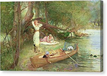 A Day On The River Canvas Print by John Parker