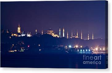 A Different Silhouette Of Istanbul Canvas Print by Leyla Ismet