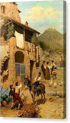 A Donkeys Reward Canvas Print by Francesco Bergamini