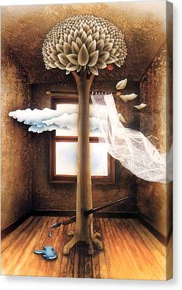 A Dream Of Words Canvas Print by Jose Luis Alcover